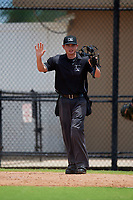 Umpire Chad Westlake during a Gulf Coast League game between the GCL Tigers West and GCL Phillies West on July 27, 2019 at the Carpenter Complex in Clearwater, Florida.  (Mike Janes/Four Seam Images)