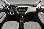 Stock photo of straight dashboard view of 2017 KIA Rio LX-AT 4 Door Sedan Dashboard