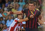 Handball - ASOBAL 2013-14 League.<br /> Fertiberia Pto. Sagunto vs FC Barcelona.<br /> Internucleos Pavillion.<br /> Puerto de Sagunto (Valencia-Spain).<br /> May 10, 2014.
