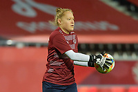 Swis goalkeeper Seraina Friedli  pictured during a female soccer game between the national teams of Belgium , called the Red Flames and Switzerland on the 8 th and last matchday in group H for the qualification for the Womens EURO 2022 in England , on Tuesday 1 th of December 2020  in Leuven , Belgium . PHOTO SPORTPIX.BE | SPP | DIRK VUYLSTEKE
