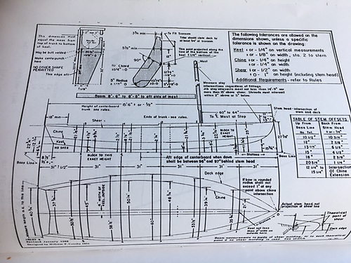 Plans of the Snipe courtesy Joe Campbell Holywood YC