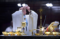 Pope Francis  holy mass at St. Mary Major Basilica in Rome, on January 28, 2018.