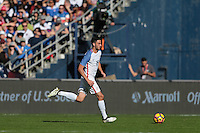 San Diego, CA - Sunday January 29, 2017: Steve Birnbaum during an international friendly between the men's national teams of the United States (USA) and Serbia (SRB) at Qualcomm Stadium.