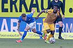 20.02.2021, xtgx, Fussball 3. Liga, FC Hansa Rostock - SV Waldhof Mannheim, v.l. Nico Neidhart (Hansa Rostock, 7), Manfred Osei Kwadwo (Mannheim) Zweikampf, Duell, Kampf, tackle <br /> <br /> (DFL/DFB REGULATIONS PROHIBIT ANY USE OF PHOTOGRAPHS as IMAGE SEQUENCES and/or QUASI-VIDEO)<br /> <br /> Foto © PIX-Sportfotos *** Foto ist honorarpflichtig! *** Auf Anfrage in hoeherer Qualitaet/Aufloesung. Belegexemplar erbeten. Veroeffentlichung ausschliesslich fuer journalistisch-publizistische Zwecke. For editorial use only.