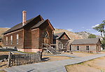 Methodist Church, Bannack, Montana, a ghost town preserved as a Montana State Park. Camping is peaceful, the town historic.  A remnant of Montana's gold mining history the park is west of Dillon, Montana a few miles off State Highway 278.  Built in 1873, the only building in town built for worship.