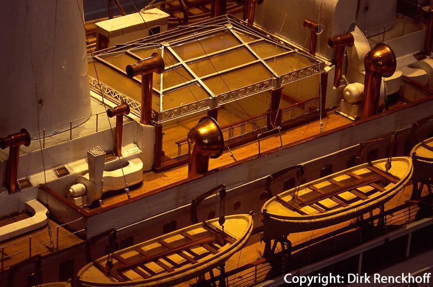 Deutschland, Hamburg, Museum für Hamburgische Geschichre, Schiffsmodell