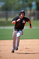 Miami Marlins Justin Bohn (13) during a minor league Spring Training intrasquad game on March 31, 2016 at Roger Dean Sports Complex in Jupiter, Florida.  (Mike Janes/Four Seam Images)