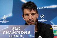 Football Soccer - Juventus Press conference- Uefa Champions League, Juventus stadium, Turin, Italy, april 10, 2017.<br />