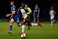 16th September 2020; Portman Road, Ipswich, Suffolk, England, English Football League Cup, Carabao Cup, Ipswich Town versus Fulham; Neeskens Kebano of Fulham passes the ball through midfield