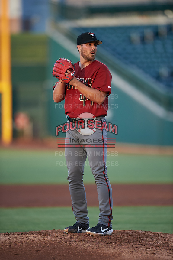 AZL Dbacks relief pitcher Michael Kohn (44) during an Arizona League game against the AZL Cubs 2 on June 25, 2019 at Sloan Park in Mesa, Arizona. AZL Cubs 2 defeated the AZL Dbacks 4-0. (Zachary Lucy/Four Seam Images)