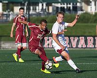 Allston, Massachusetts - October 10, 2017: NCAA Division I. Boston College (maroon) defeated Harvard University (white), 3-1, at Jordan Field.