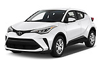 2020 Toyota C-HR LE 5 Door SUV Angular Front automotive stock photos of front three quarter view