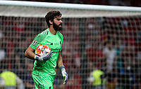 Liverpool's goalkeeper Alisson Becker holds the ball during the UEFA Champions League final football match between Tottenham Hotspur and Liverpool at Madrid's Wanda Metropolitano Stadium, Spain, June 1, 2019.<br /> UPDATE IMAGES PRESS/Isabella Bonotto