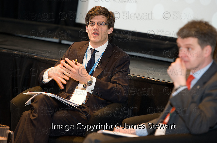 James Alexander, SCDI, during the Q&A Session at the Falkirk Business Panel Update Event 2012, Falkirk Town Hall...