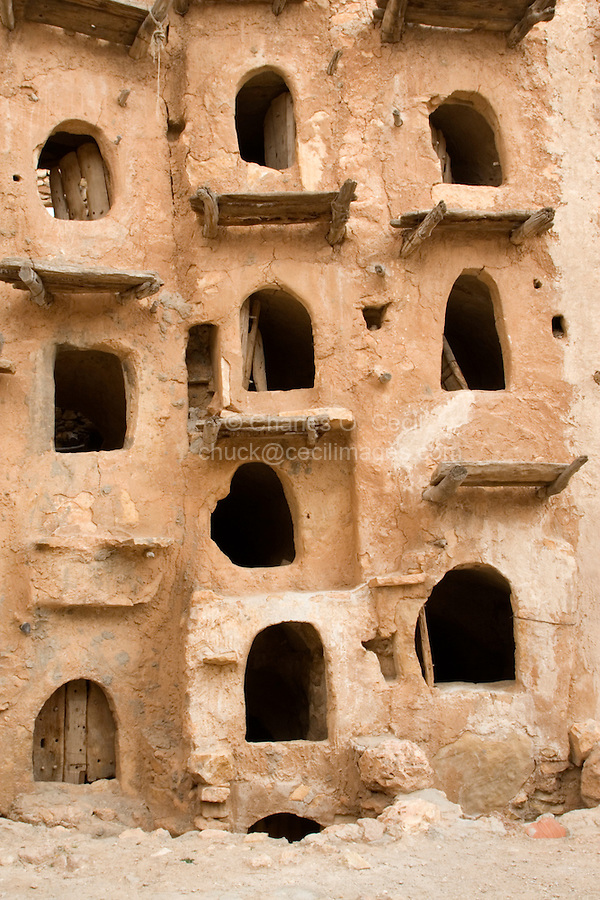 Kabaw, Libya - Fortified Berber Granary, Openings to Inside Storage Chambers