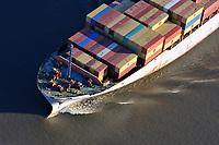 Containerschiff: EUROPA, DEUTSCHLAND, HAMBURG, (EUROPE, GERMANY), 28.01.2011: Container,  Hamburger Hafen, Elbe, Schiff, Seeschiff, Containerschiff, Logistik, Transport, Wirtschaft, Boom, , Reederei, Luftbild, Luftansicht, Luftaufnahme, Aufwind-Luftbilder<br />c o p y r i g h t : A U F W I N D - L U F T B I L D E R . de<br />G e r t r u d - B a e u m e r - S t i e g 1 0 2, <br />2 1 0 3 5 H a m b u r g , G e r m a n y<br />P h o n e + 4 9 (0) 1 7 1 - 6 8 6 6 0 6 9 <br />E m a i l H w e i 1 @ a o l . c o m<br />w w w . a u f w i n d - l u f t b i l d e r . d e<br />K o n t o : P o s t b a n k H a m b u r g <br />B l z : 2 0 0 1 0 0 2 0 <br />K o n t o : 5 8 3 6 5 7 2 0 9<br /> V e r o e f f e n t l i c h u n g  n u r  m i t  H o n o r a r  n a c h M F M, N a m e n s n e n n u n g  u n d B e l e g e x e m p l a r !