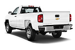 Car pictures of rear three quarter view of a 2015 Chevrolet Silverado 2500 Hd Work Truck Regular Cab Lwb 2 Door Pickup 2WD Angular Rear