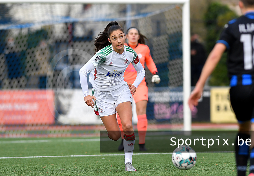 OHL's Amber Tysiak pictured during a female soccer game between Club Brugge Dames YLA and Oud Heverlee Leuven on the 8 th matchday of the 2020 - 2021 season of Belgian Scooore Womens Super League , saturday 21 th November 2020  in Knokke , Belgium . PHOTO SPORTPIX.BE | SPP | DAVID CATRY