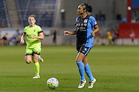 Chicago, IL - Sunday Sept. 04, 2016: Samantha Johnson during a regular season National Women's Soccer League (NWSL) match between the Chicago Red Stars and Seattle Reign FC at Toyota Park.