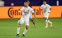 CARSON, CA - SEPTEMBER 19: Perry Kitchen #2 of the Los Angeles Galaxy traps the ball during a game between Colorado Rapids and Los Angeles Galaxy at Dignity Heath Sports Park on September 19, 2020 in Carson, California.