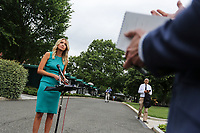 White House Press Secretary Kayleigh McEnany talks to reporters on the West Wing driveway at the White House on June 11, 2020 in Washington, DC.<br /> Credit: Oliver Contreras / Pool via CNP/AdMedia