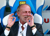 "Calcio, Serie A: Empoli vs Roma. Empoli, stadio ""Carlo Castellani"" 13 settembre 2014. <br /> AS Roma sporting director Walter Sabatini gestures prior to the start of the Italian Serie A football match between Empoli and AS Roma at Empoli's ""Carlo Castellani"" stadium, 13 September 2014.<br /> UPDATE IMAGES PRESS/Isabella Bonotto"