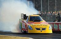 Apr. 29, 2011; Baytown, TX, USA: NHRA funny car driver Bob Bode during qualifying for the Spring Nationals at Royal Purple Raceway. Mandatory Credit: Mark J. Rebilas-