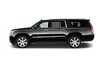 Car Driver side profile view of a 2018 Cadillac Escalade ESV 2WD Luxury 5 Door SUV Side View