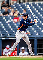 27 February 2019: Houston Astros outfielder Kyle Tucker in pre-season action against the Washington Nationals at the Ballpark of the Palm Beaches in West Palm Beach, Florida. The Nationals defeated the Astros 14-8 in their Spring Training Grapefruit League matchup. Mandatory Credit: Ed Wolfstein Photo *** RAW (NEF) Image File Available ***