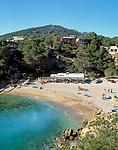 Spanien, Balearen, Ibiza (Eivissa): Bucht und Strand von Cala Carbo im Suedwesten | Spain, Balearic Islands, Ibiza (Eivissa): Cala Carbo - bay and beach