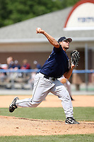 June 22nd 2008:  Pitcher Daniel Morales of the Mahoning Valley Scrappers, Class-A affiliate of the Cleveland Indians, during a game at Dwyer Stadium in Batavia, NY.  Photo by:  Mike Janes/Four Seam Images