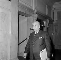 Le depute de l'Union Nationale Maurice Bellemare, a l'assemblee nationale, le 26 juin 1960, Quebec.<br /> <br /> PHOTO :  Agence Quebec Presse