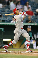 April 13, 2009:  Center Fielder Tommy Pham (28) of the Palm Beach Cardinals, Florida State League Class-A affiliate of the St. Louis Cardinals, during a game at Hammond Stadium in Fort Myers, FL.  Photo by:  Mike Janes/Four Seam Images