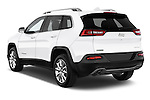 Car pictures of rear three quarter view of a 2015 Jeep Cherokee Limited 5 Door SUV angular rear