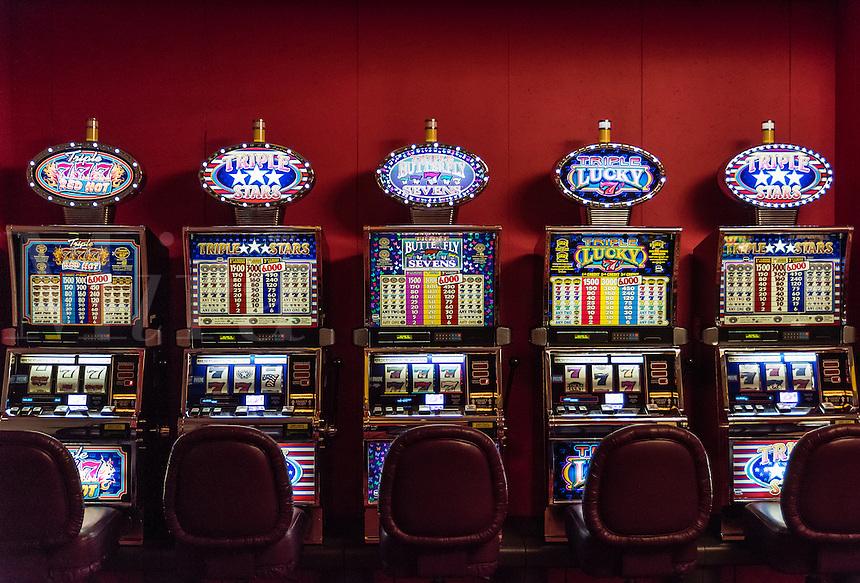 Casino slot machines.