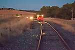 Night run at the Folsom Railroad Festival and speeder run on the Placerville Branch, Folsom to near Latrobe, El Dorado County.