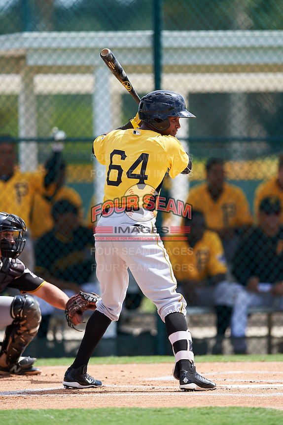 Pittsburgh Pirates Michael da la Cruz (64) during an Instructional League Intrasquad Black & Gold game on September 28, 2016 at Pirate City in Bradenton, Florida.  (Mike Janes/Four Seam Images)