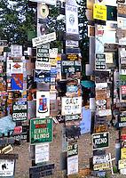 Famous 25,000 towns sign display, Watson Lake, Yukon, Canada
