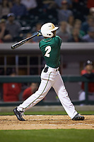 Reece Hampton (2) of the Charlotte 49ers follows through on his swing against the Georgia Bulldogs at BB&T Ballpark on March 8, 2016 in Charlotte, North Carolina. The 49ers defeated the Bulldogs 15-4. (Brian Westerholt/Four Seam Images)