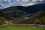 The peloton during Stage 4 of Tirreno-Adriatico Eolo 2021, running 148km from Terni to Prati di Tivo, Italy. 13th March 2021. <br /> Photo: LaPresse/Marco Alpozzi | Cyclefile<br /> <br /> All photos usage must carry mandatory copyright credit (© Cyclefile | LaPresse/Marco Alpozzi)