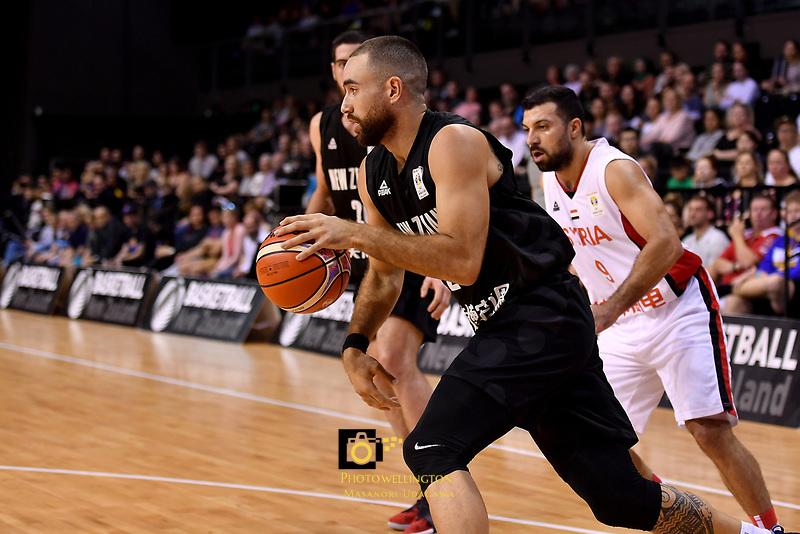 New Zealand Tall Blacks' Ethan Rusbatch in action during the FIBA World Cup Basketball Qualifier - NZ Tall Blacks v Syria at TSB Bank Arena, Wellington, New Zealand on Sunday 2 2018. <br /> Photo by Masanori Udagawa. <br /> www.photowellington.photoshelter.com