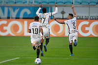 28th August 2021; Arena do Gremio, Porto Alegre, Brazil; Brazilian Serie A, Gremio versus Corinthians;  Jô of Corinthians celebrates his goal with Gabriel in the 79th minute for 0-1