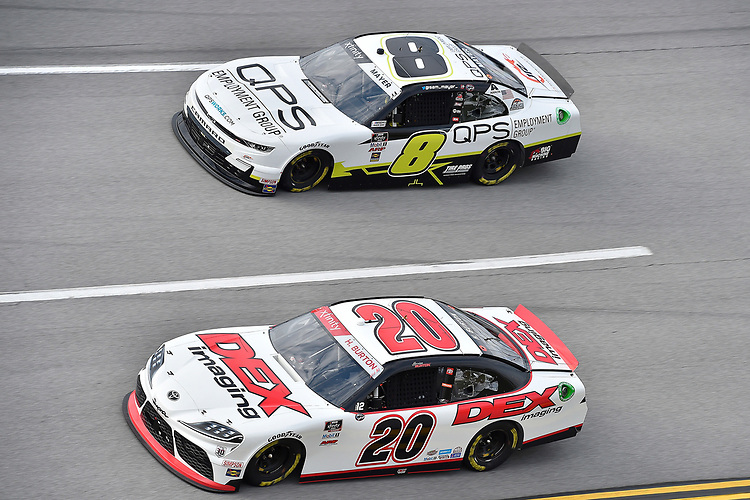 #20: Harrison Burton, Joe Gibbs Racing, Toyota Supra DEX Imaging and #8: Sam Mayer, JR Motorsports, Chevrolet Camaro QPS Employment Group