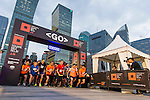 Runners start the race at the Bloomberg Square Mile Relay near the Huangpu River in Shanghai, China. Photo by Lucas Schifres / Power Sport Images