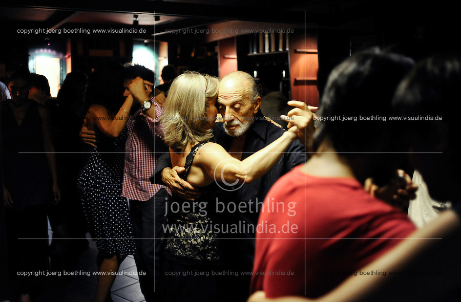 Uruguay Montevideo, Tango dancing at night at Museo del Vino