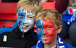St Johnstone v FC Minsk...08.08.13 Europa League Qualifier<br /> Ollie Stewart and brother Finlay<br /> Picture by Graeme Hart.<br /> Copyright Perthshire Picture Agency<br /> Tel: 01738 623350  Mobile: 07990 594431