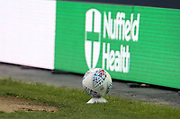 A spare ball sits on a plinth during Millwall vs Blackburn Rovers, Sky Bet EFL Championship Football at The Den on 14th July 2020