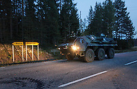 German armoured vehicle during NATO exercise Noble Ledger in Norway. The NATO Response Force (NRF) is a multinational force made up of land, air, maritime and Special Operations Forces components. The exercise includes around 6500 soldiers from the USA, Germany, Netherlands, Denmark, Belgium and Norway. Photo: Fredrik Naumann/Panos
