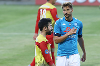 Fernando Llorente of SSC Napoli gestures<br /> during the friendly football match between SSC Napoli and Castel di Sangro Cep 1953 at stadio Patini in Castel di Sangro, Italy, August 28, 2020. <br /> Photo Cesare Purini / Insidefoto