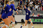 Boswell wins the high school volleyball regional quarterfinals with a sweep of Colleyville Heritage at Eaton High School in Fort Worth on Tuesday, November 8, 2016.